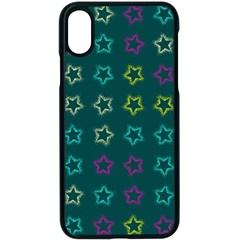Spray Stars Pattern F Apple Iphone X Seamless Case (black)