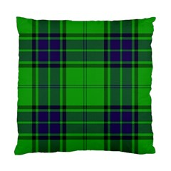 Green And Blue Plaid Standard Cushion Case (one Side)