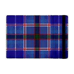 Blue Heather Plaid Apple Ipad Mini Flip Case