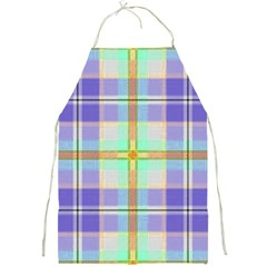 Blue And Yellow Plaid Full Print Aprons