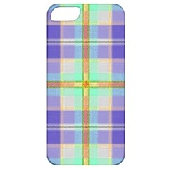 Blue And Yellow Plaid Apple Iphone 5 Classic Hardshell Case
