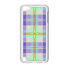 Blue And Yellow Plaid Apple Ipod Touch 5 Case (white)