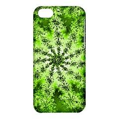 Lime Green Starburst Fractal Apple Iphone 5c Hardshell Case