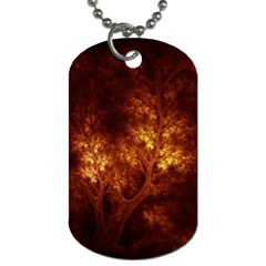 Artsy Brown Trees Dog Tag (one Side)