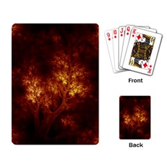 Artsy Brown Trees Playing Card