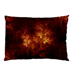 Artsy Brown Trees Pillow Case