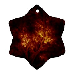 Artsy Brown Trees Ornament (snowflake)