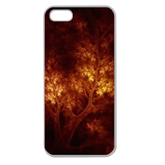 Artsy Brown Trees Apple Seamless Iphone 5 Case (clear)