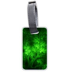 Artsy Bright Green Trees Luggage Tags (one Side)