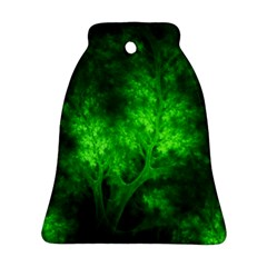 Artsy Bright Green Trees Bell Ornament (two Sides)