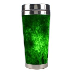 Artsy Bright Green Trees Stainless Steel Travel Tumblers