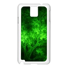 Artsy Bright Green Trees Samsung Galaxy Note 3 N9005 Case (white)