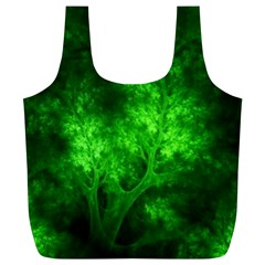Artsy Bright Green Trees Full Print Recycle Bags (l)