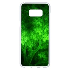 Artsy Bright Green Trees Samsung Galaxy S8 Plus White Seamless Case
