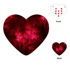 Artsy Red Trees Playing Cards (heart)