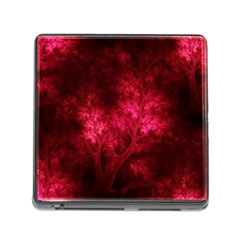Artsy Red Trees Memory Card Reader (square)