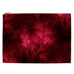 Artsy Red Trees Cosmetic Bag (xxl)