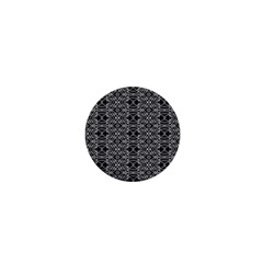 Black And White Ethnic Pattern 1  Mini Buttons