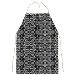 Black And White Ethnic Pattern Full Print Aprons