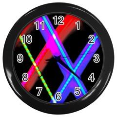 Xmas Light Paintings Wall Clocks (black)