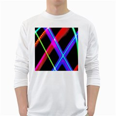 Xmas Light Paintings White Long Sleeve T Shirts