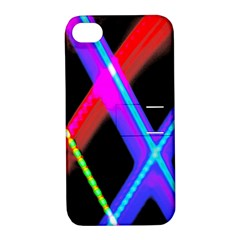 Xmas Light Paintings Apple Iphone 4/4s Hardshell Case With Stand