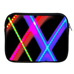 Xmas Light Paintings Apple Ipad 2/3/4 Zipper Cases