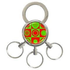 Redg Reen Christmas Background 3 Ring Key Chains