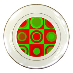 Redg Reen Christmas Background Porcelain Plates