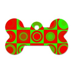 Redg Reen Christmas Background Dog Tag Bone (two Sides)