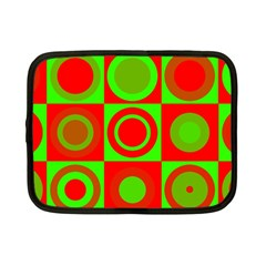 Redg Reen Christmas Background Netbook Case (small)
