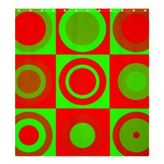 Redg Reen Christmas Background Shower Curtain 66  X 72  (large)