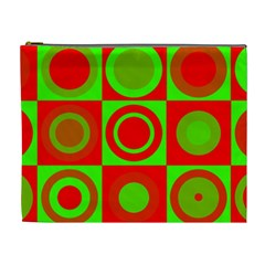 Redg Reen Christmas Background Cosmetic Bag (xl)