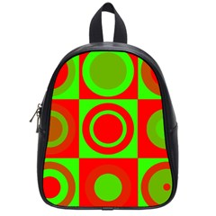 Redg Reen Christmas Background School Bag (small)