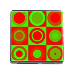Redg Reen Christmas Background Memory Card Reader (square)