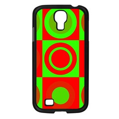 Redg Reen Christmas Background Samsung Galaxy S4 I9500/ I9505 Case (black)