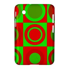 Redg Reen Christmas Background Samsung Galaxy Tab 2 (7 ) P3100 Hardshell Case