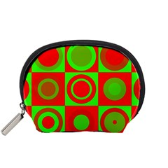 Redg Reen Christmas Background Accessory Pouches (small)