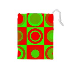 Redg Reen Christmas Background Drawstring Pouches (medium)