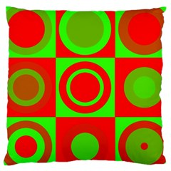 Redg Reen Christmas Background Standard Flano Cushion Case (two Sides)