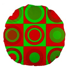 Redg Reen Christmas Background Large 18  Premium Flano Round Cushions