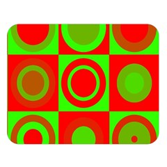 Redg Reen Christmas Background Double Sided Flano Blanket (large)