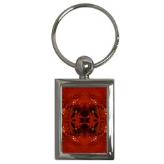 Red Abstract Key Chains (rectangle)