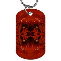 Red Abstract Dog Tag (two Sides)