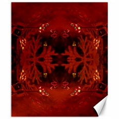 Red Abstract Canvas 8  X 10
