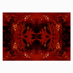 Red Abstract Large Glasses Cloth