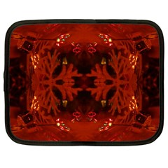 Red Abstract Netbook Case (large)