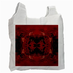 Red Abstract Recycle Bag (one Side)