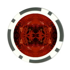 Red Abstract Poker Chip Card Guard (10 Pack)