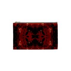 Red Abstract Cosmetic Bag (small)
